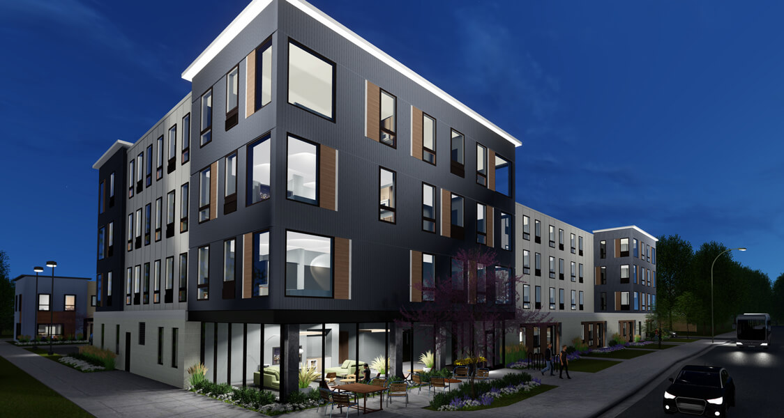 henley apartment exterior rendering